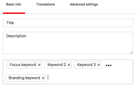 Adding keywords