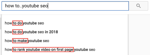 YouTube Search Suggestion