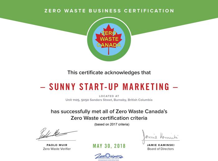Zero Waste Certified